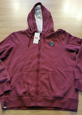 Sweat Zippé Canterbury Hoody Through Bordeaux Neuf  Taille L