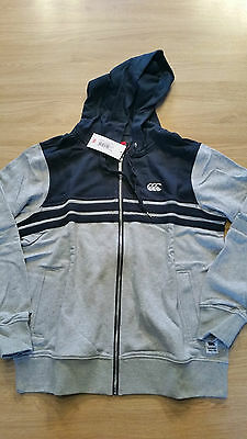 Sweat Zippé Canterbury Hoody Gris / Carbone Neuf  Taille L