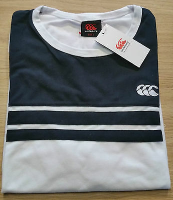 Tee shirt rugby Stripe Tee canterbury Blanc  Neuf Taille L