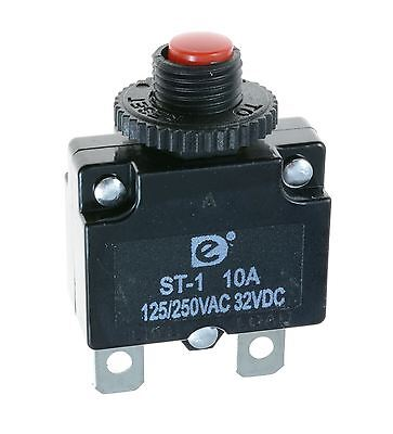 10A Resettable Panel Mount Thermal Circuit Breaker
