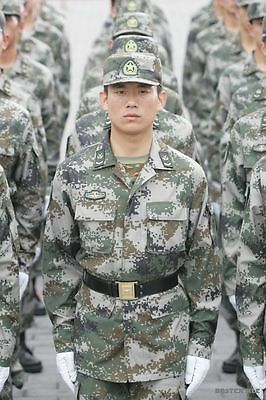Chinese Army PLA Type 07 BDU ACU Woodland Camo Jacket + Trousers