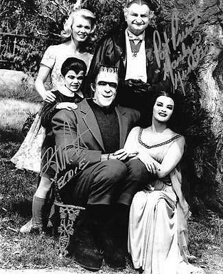 Butch Patrick & Pat Priest Autographs 8X10 B&W Munsters Family Photo Signed