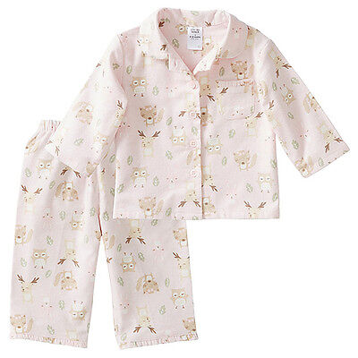 Bnwt ~ Baby Girls 2Pc Woodland Baby Animals Pyjamas Choose Size 00 Or 0 ~ New