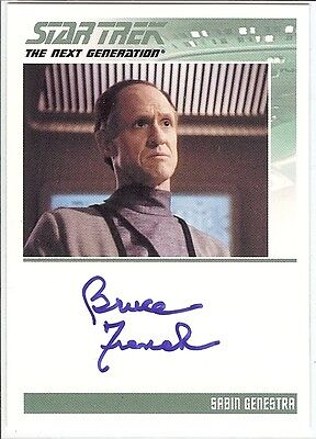 Star Trek TNG Complete Serie 2 : Bruce French (Sabin) autograph