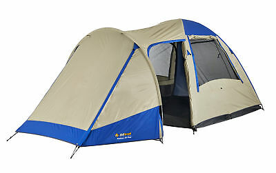 OZtrail Dome Tent 4 Person Plus Tasman Blue Cream Family Camping Hiking
