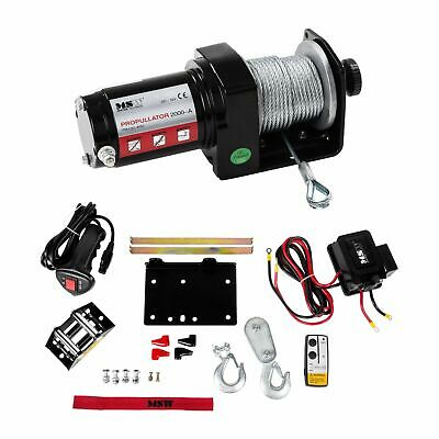 ROPE WINCH - 1558lb ELECTRIC RECOVERY HOISTING PROFESSIONAL INDUSTRAIL HOIST 12V