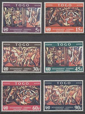 Togo 1967 ** Mi.588/93 A Gemälde Paintings Zanetti UNO New York [sq5019]