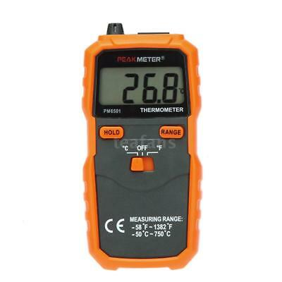 PEAKMETER PM6501 Digital Thermometer Temperature Meter w/ K Type Thermocouple