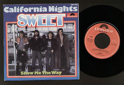 "7"" The Sweet California Night Polydor Ita Glam Rock Pop"