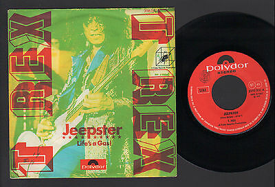 "7"" T. Rex Jeepster / Life's A Gas Rare Italy 2° Press Different Cover 1972 Bolan"