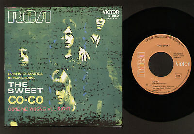 "7"" The Sweet Co-Co / Done Me Wrong All Right Made In Italy 1971 Rca Glam Rock"