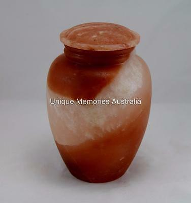 Adult Solid Biodegradable Himalayan Salt Sustainable Cinerary Ash Cremation Urn
