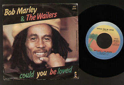"""7"""" Bob Marley & Wailers Could You Be Loved / One Drop Italy Reggae Island 1980"""