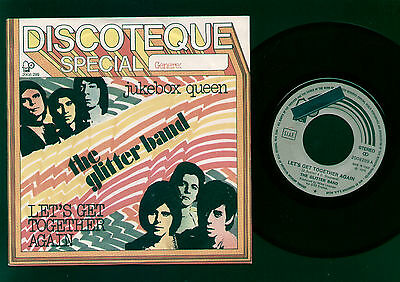 "7"" Gary Glitter Band Let's Get Together Again / Jukebox Queen Promo Sticker Ita"