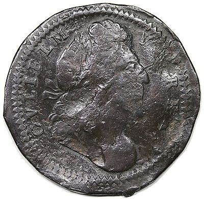 (c. 1689) Great Britain Pattern Halfpenny, Peck-631, F detail, extremely rare!