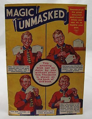 MAGIC UNMASKED 1930s WIZARD COMIC GIFT VINTAGE TRICKS 23rd JANUARY 1937 ROVER*