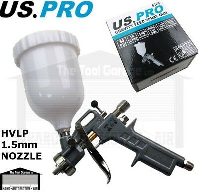 BERGEN Tools Hvlp Gravity Feed Spray Gun 1.5mm Nozzle 600ml Cup Air NEW 8702