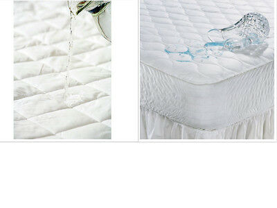 100% Waterproof Quilted Mattress Protector. Single, Double, King + Super King.