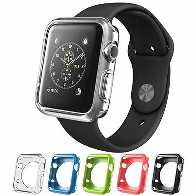 Apple Watch Case Iwatch Cover Screen Protector Black White Blue Red Green 42mm