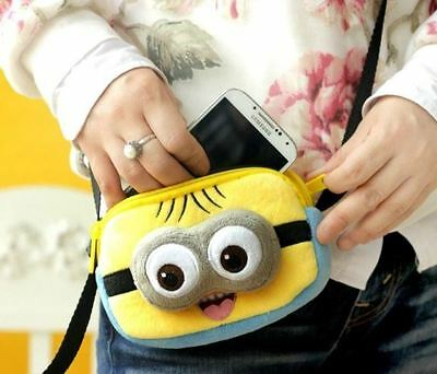 Funny Despicable Me Minions Bag Cartoon Ladies Girls Phone Small Purse Wallet