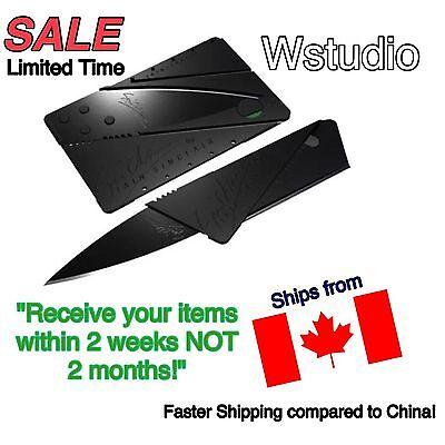 New! Cardsharp Credit Card Folding Razor Sharp Wallet Knife SHIPS FROM CANADA!