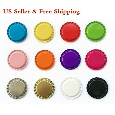 "120pcs 1"" Mix colors Flat Linerless Double Sided Painted Flattened Bottle Caps"