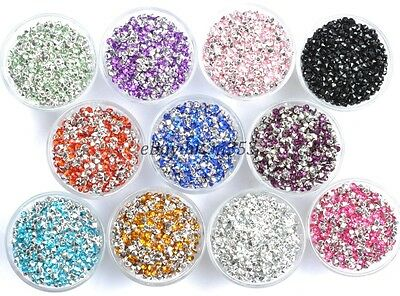 1000pcs Acrylic Crystal Rhinestone Bicone Point Back Beads 3MM 4MM Colors U PICK