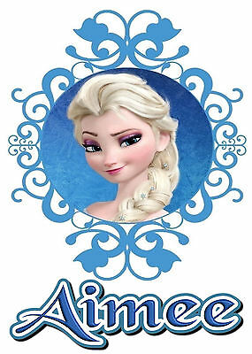 Frozen Elsa Personalised Iron On Transfer Create A T Shirt For A Stocking Filler