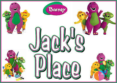 Personalised Barney Placemat & Coaster! Xmas Gift! Stocking Filler Boys