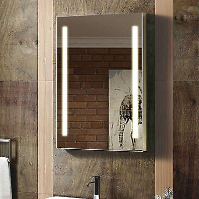 ENKI Rectangular 500 x 700 Backlit Illuminated Bathroom LED Mirror Wall Hung