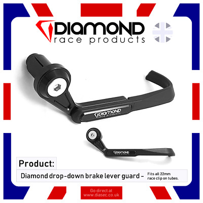 DIAMOND RACE PRODUCTS BRAKE LEVER PROTECTOR GUARD FOR ALL 22mm CLIP-ON BARS