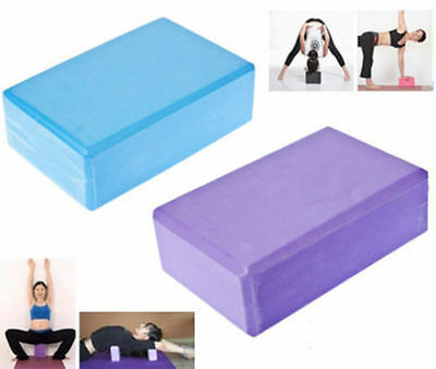 Yoga Block Brick Foaming Foam Home Exercise Practice Fitness Gym Sport Tool DE