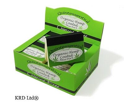 QUINTESSENTIAL ORGANIC HEMP COATED MAXI PACK Filter Tips Roach 20 Roaches BOX