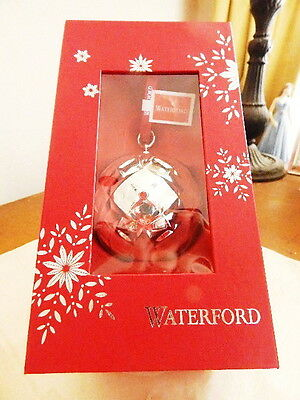 Waterford Silverplate 2014 LISMORE BALL Christmas Ornament - NEW / BOX!