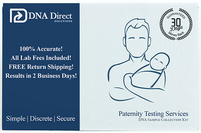 DNA Direct Duo Paternity Test - Includes Kit, Lab Fees & 2-Day Results
