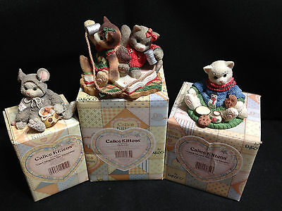 Calico Kittens Holiday Lot Chatty-Catty RARE Plus Two others!