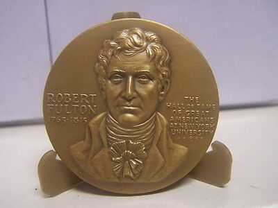 Robert Fulton Medallic Art Co NYU Hall of Fame for Great Americans Bronze