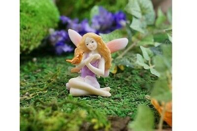Miniature Dollhouse FAIRY GARDEN - Fairy With Bird - Accessories