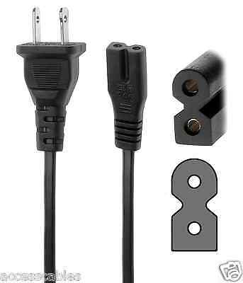 2 Prong Polarized Power Cord f/ Bose Companion 3, 5 Multimedia Speaker System 6'