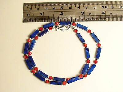 ARTISTICALLY Made RARE Genuine, Untreated, Natural Afghan LAPIS LAZULI NECKLACE
