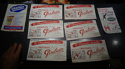 Lot d'anciens Buvards Paul Jacquemin Chocolat Poulain Peinture Novémail