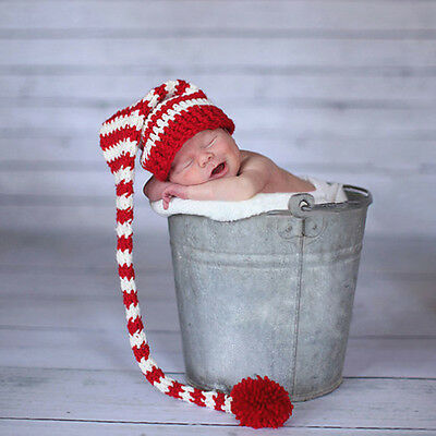 Newborn Baby Girls Boys Crochet Knit Cap Costume Photo Photography Prop Hat