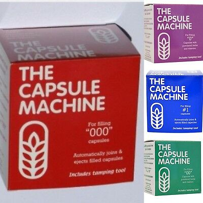 "The CAPSULE MACHINE (Sizes ""000"" or ""00"" or ""0"" or ""1"") Complete Kit w/Tamper"