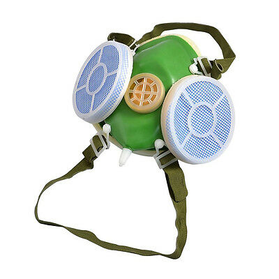 Elastic Strap Double Cartridge Safety Respirator Mask 3 Colors T1