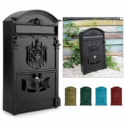 Heavy Duty Large Aluminium Postbox Lockable Secure Mail Letter Post Box Mailbox