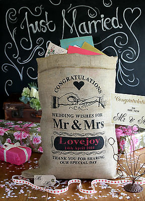 Personalised Wedding Post Box Sack, Wishing Well, Card holder, Wedding Supplies
