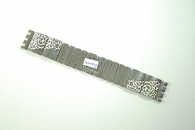 NOS Genuine Stainless Steel Swatch Replacement Ladies Strap 24mm , 173mm Long
