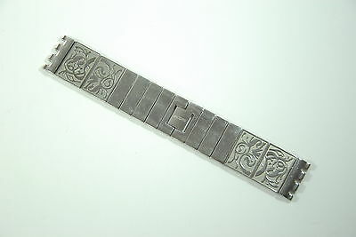 NOS Genuine Stainless Steel Swatch Replacement Ladies Strap 24mm , 162mm Long