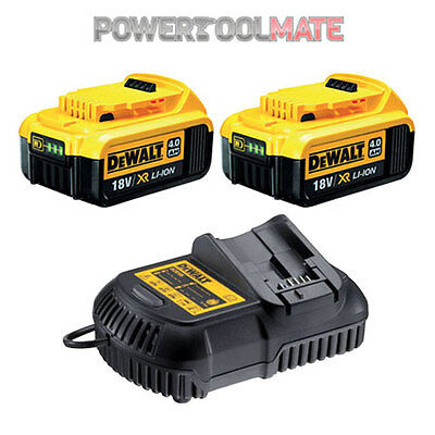 Dewalt DCB182 18V Li-ion 4.0Ah Battery Twin Pack & DCB105 Charger Kit