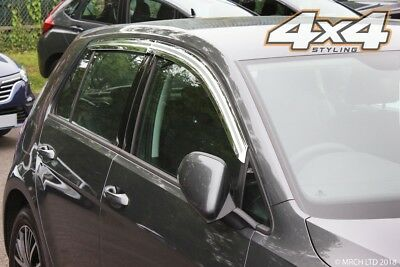 For Volkswagen Golf MK7 Chrome Wind Deflector / Sun Visor Set 5dr (4 piece) Set